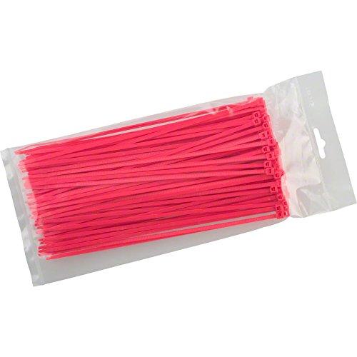 Cobra Ties 8'' x 40lb (225 x 3.5mm) Intermediate Zip Ties, Fluoresent Pink, Bag