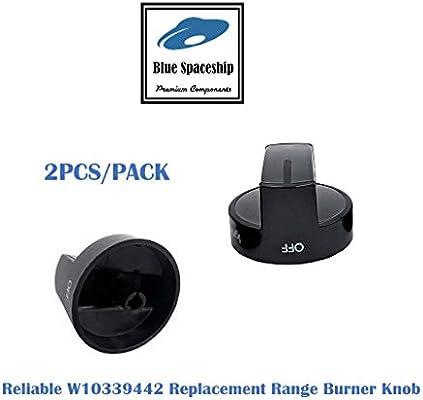 W10339442 - Juego de 2 pomos fiables para horno, estufa o horno ...