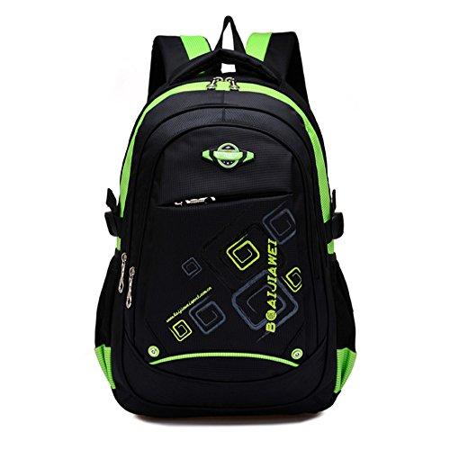 School Backpack for Girl, Waterproof Bookbags for Kids Student Children by Ellien (Green)