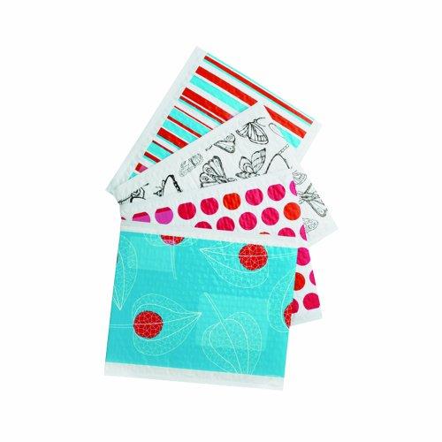 Scotch Decorative Plastic Bubble Mailer Assorted Designs, Size 5, 10.5 x 15.25 Inches, 12-Pack (8915-DS)
