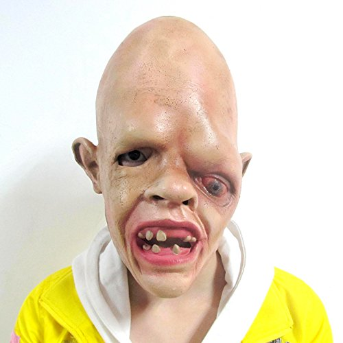 [Vidatoy One-eyed Terrible Mask Funny Scary Costume latex horror sloth Mask] (Sloth Goonies Costumes)