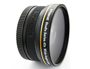 Polaroid Studio Series 43X High Definition Wide-Angle Lens Wide lens Negro - Objetivo (Wide lens, Negro, 5,8 cm, Caja)