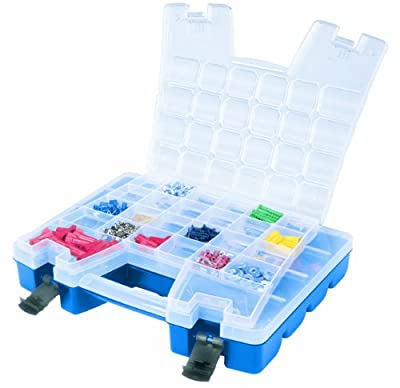 Akro-Mils 06115 Plastic Portable Hardware and Craft Parts Organizer, Regular, Blue by Akro-Mils