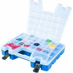Akro-Mils 06115 Plastic Portable Hardware and Craft Parts Organizer, Regular, Blue
