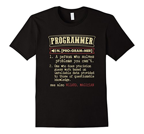 Men's Programmer Funny Dictionary Definition T-Shirt Small Black