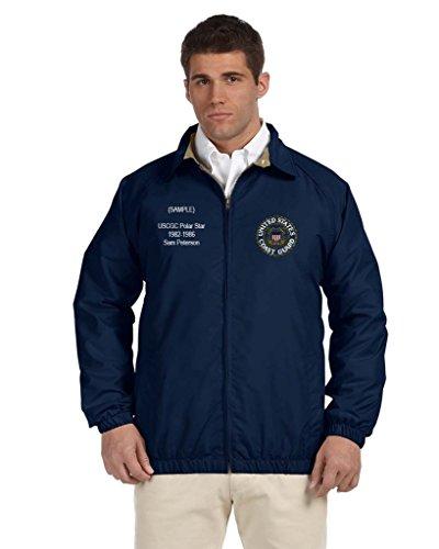 - Coast Guard Personalized Custom Embroidered Lightweight All Season Jacket - Navy