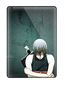Ultra Slim Fit Hard DanRobertse Case Cover Specially Made For Ipad Air- Quotes Naruto: Shippuden Drops Anime Boys Closed Protecting Dark Green Arms Crossed Suigetsu Hozuki Silver