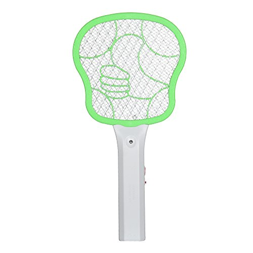 YAZACO Electric Mini Bug Zapper Racket , Fly Swatter / Insect / Mosquito Killer , Best for Indoor / Outdoor / Camping / Car 2500 Volt Unique 3-Layer Safety Mesh / Prime