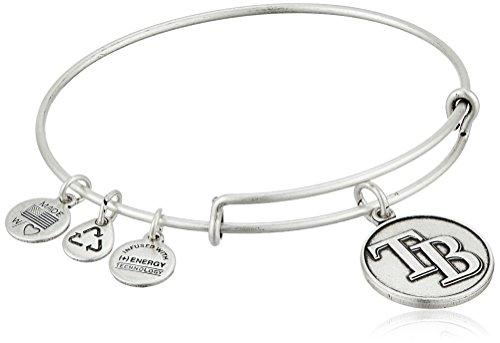 Alex and Ani Tampa Bay Rays Cap Logo Expandable Rafaelian Silver Bangle Bracelet for $<!--$15.89-->