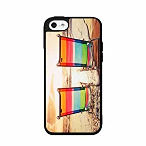Beach Chairs At Sunset - Case Back Cover (iPhone 4/4s - 2- piece Dual Layer)