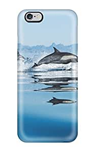 Shock-dirt Proof Dolphins In Sea Case Cover For Iphone 6 Plus