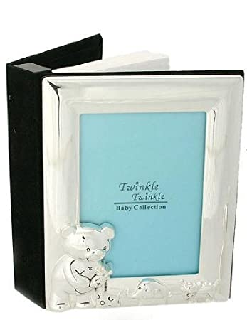 New Twinkle Twinkle Silver Plated Baby Photo Frame Album Cg305