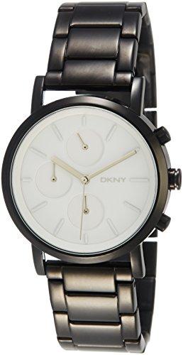 DKNY SoHo White Dial Black Ion-plated Ladies Watch NY2149