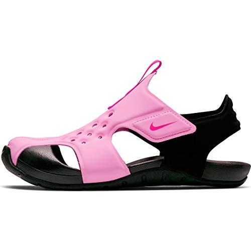 Nike Boy's Sunray Protect 2 (PS) Pre School Sandal Psychic Pink/Laser Fuchsia/Black Size 2 M US