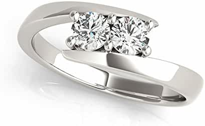 Two-Stone Ring Forever Us 1/4 ct tw Diamonds 14K White Gold