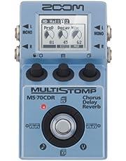Zoom MS-70CDR MultiStomp Efectos de Guitarra Pedal, Coro, Delay y Reverb Efectos, Tamaño de una caja de Stompbox 86 efectos incorporados, Sintonizador