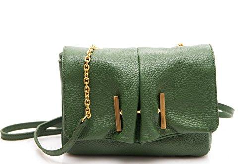Borsa Donna Mini Bag Pelle Vitello Prato
