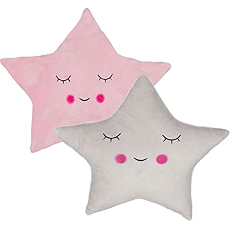DCASA dcasa - Juego de 2 Cojines Relax extrasuave en Forma de Estrella