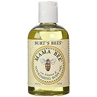 Burt's Bees Mama Bee, aceite corporal con vitamina E, botellas de 4 onzas (paquete de 2)