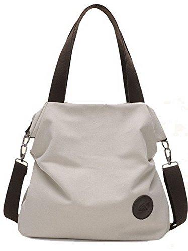 VogueZone009 Mujeres Lona Bolsas de hombro Compras Casual Bolsos de embrague, CCAYBO181472, Beige Beige