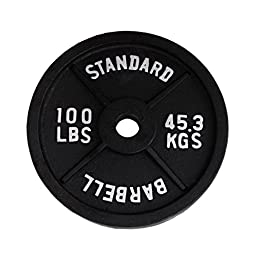 Ader Black Olympic Plate (100lbs)