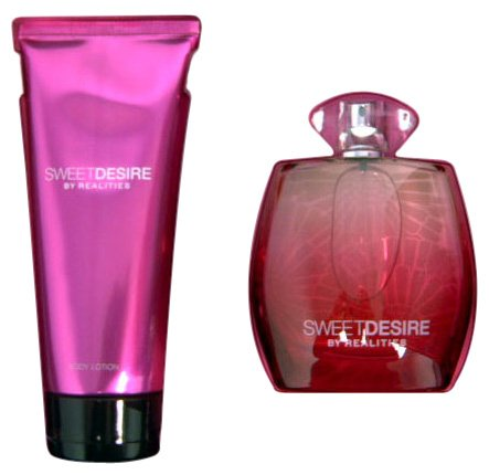 Realities Cosmetics Sweet Desire By Realities Cosmetics For Women. Gift Set ( Eau De Parfum Spray 3.4-Ounces & Body Lotion 6.7-Ounces )