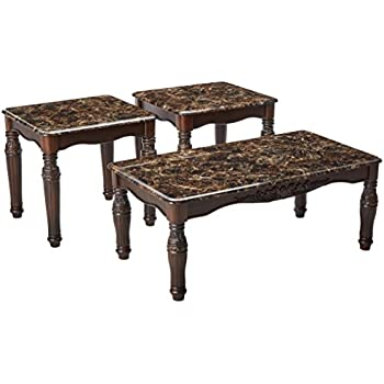 7f5b3077d343 Ashley Furniture Signature Design - North Shore Occasional Table Set - End  Tables and Coffee Table