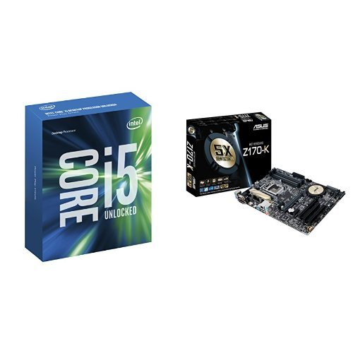 intel core i5 6600k with asus z170 k motherboard bundle. Black Bedroom Furniture Sets. Home Design Ideas