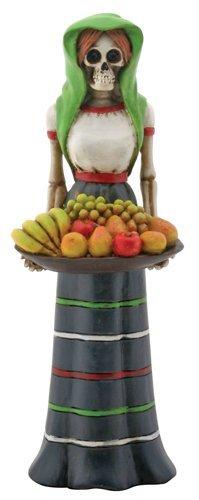 YTC Fruit Lady Skeleton with Basket of Fruit (Muertos Los Dinnerware De Dia)