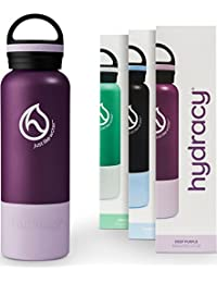 Hydracy Insulated Water Bottle - Stainless Steel Double...