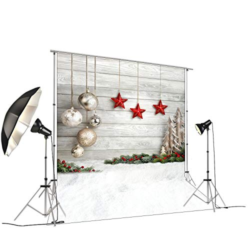 Photography Backdrop for Xmas Pictures Studio Photo Background-Vinyl Backdrop for Xmas Themed Pictures-Home DIY Decoration FT-4338