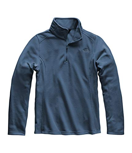 (The North Face Women's Glacier 1/4 Zip Fleece Top Blue Wing Teal)
