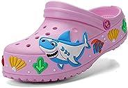 YUKTOPA Girls Boys Clogs Shoes Cartoon Slides Sandals Little Kid's Slip-on Garden Shoes Lightweight Beach