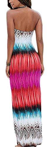 Picture Style Ethnic As Strapless Long Dress Club Bodycon Halter Women's Jaycargogo UwxSgg