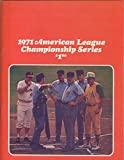 1971 ALCS Orioles V. A's Official Baseball Program Neatly Scored 128924