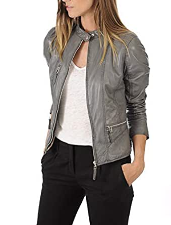 KYZER KRAFT Womens Leather Jacket Bomber Motorcycle Biker Real Lambskin Leather Jacket for Womens Collection-11