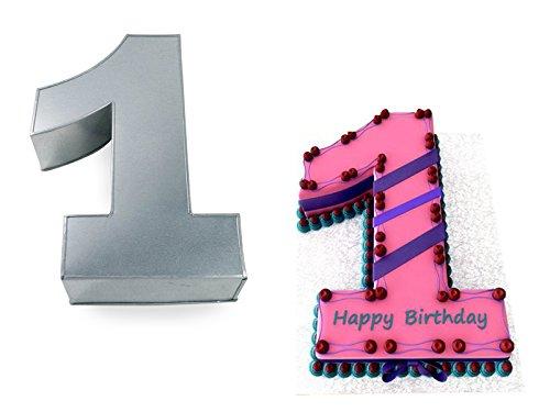 Large Number One 1 Wedding Birthday Anniversary Baking Cake Tin 14