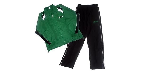 Chándal de microfibra, colour verde/negro, talla M: Amazon.es ...