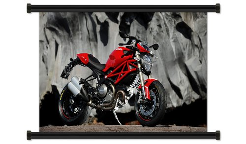 Ducati Monster Motorcycle Fabric Wall Scroll Poster (32