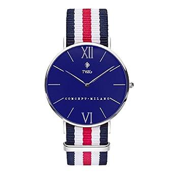 Armbanduhr TWIG Haring Silver-Blue herren-damen jahrgang klassisch