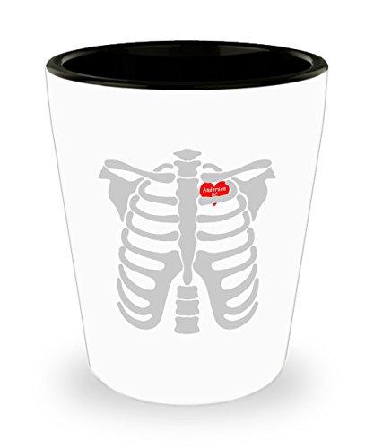 Shot Glass Anderson South Carolina In Heart Skeletons Halloween Gift Glass shot]()
