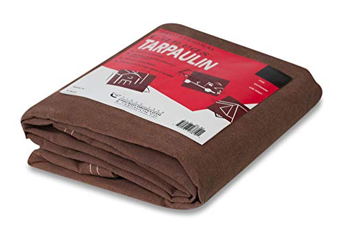 (Chicago Dropcloth And Tarpaulin 81BR-810 Canvas Tarp, Brown, 8' x 10' )