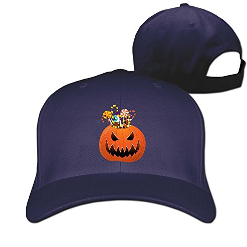 Halloween Pumpkin Unisex Two-toned Football Hat & Cap (Halo Foot Soldier Costume)