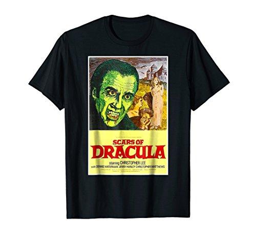 Scars of Dracula Halloween T-Shirt Horror Sci Fi Tee -