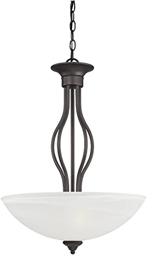 Thomas Lighting SL823663 Tahoe 3-Light Pendant in Painted Bronze