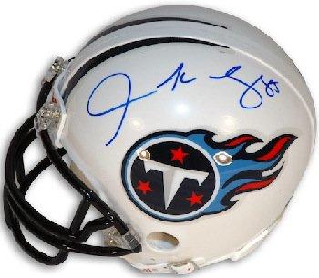 Athlon CTBL-018014 Derrick Mason Signed Tennessee Titans Mini Helmet