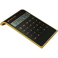 Hysada Elegant Design Black 10 Digits Dual Powered Desktop Calculator,Tilted LCD Display Inclined Design Slim Desk Calculator