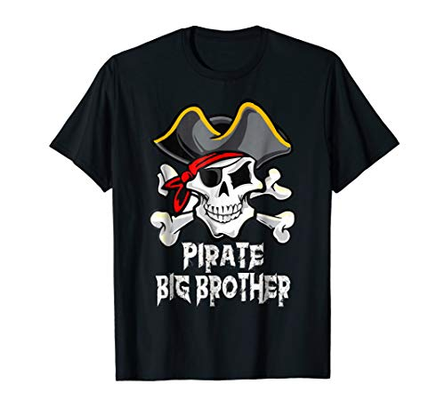 Pirate Big Brother Family Funny Halloween Costume Gift Shirt