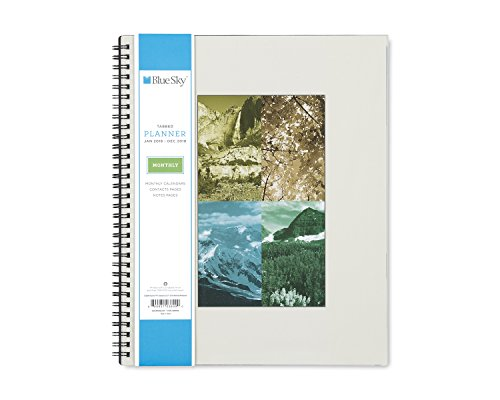 "Blue Sky 2018 Monthly Planner, Twin-Wire Binding, 8.5"" x 11"", Seasons"