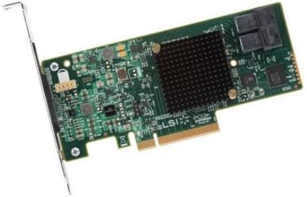 LSI Logic MegaRAID 9341-8i Single 8Port SATA//SAS PCI Express 3.0 12Gb//s Low Profile Controller Card Brown Box LSI00407